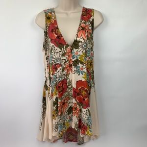 Free People Small Tunic Floral Hi Low